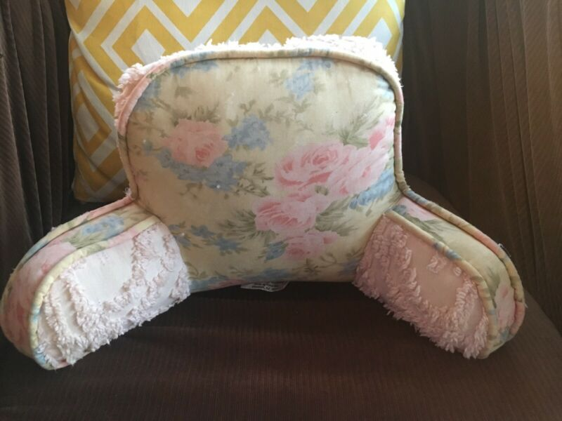 Shabby/Chenille Baby/Toddler Reading Pillow