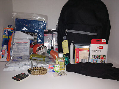 Disaster Kit Bug Out Bag 72 Hour Survival Emergency Backpack 3-Day Zombie BOB