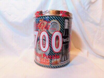 Vintage 1995 Coca Cola Coke Montage 700 Piece Jigsaw Puzzle in Tin
