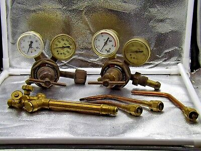 Oxygen Fuel Gas Firepower Regulator Gauge 541-l Victor Style Torch Set Lot