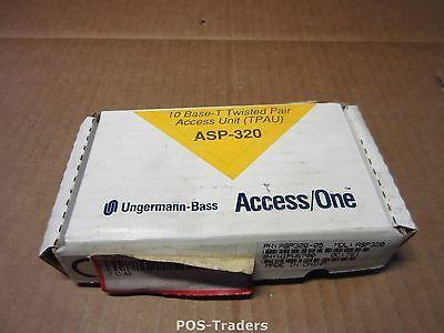 Ungermann-Bass ASP320 TPAU 12VDC 120mA Transceiver 10Base-T to 15 Pin SUB-D NEW