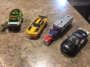 Transformers toys bumblebee, Optimus prime, rare