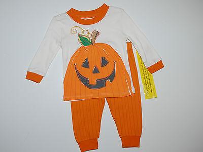 Schlafanzug~USA~Nachtwäsche~62-68~Kürbis~Place~Halloween~orange~Zweiteiler~neu