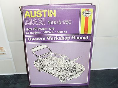 austin maxi haynes manual 1969 75 1485cc 1748cc all models