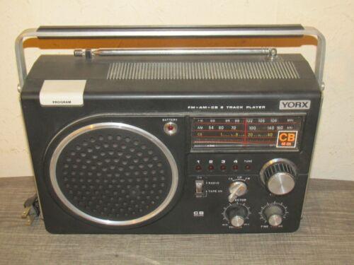 Vintage YORX L6457 Portable Shortwave 40-Channel CB - AM/FM - 8 Track Player EXC