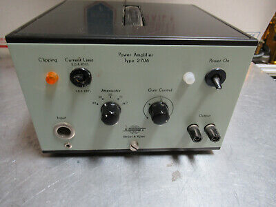 Bruel Kjaer 2706 Power Amplifier For Accelerometer Calibration As Pictured Te-2
