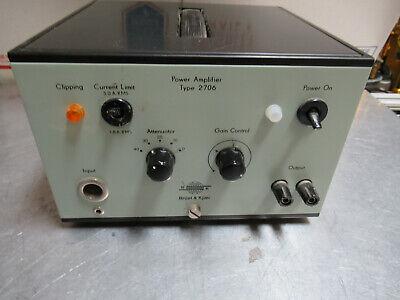 Bruel Kjaer 2706 Power Amplifier For Accelerometer Calibration As Pictured Te-2