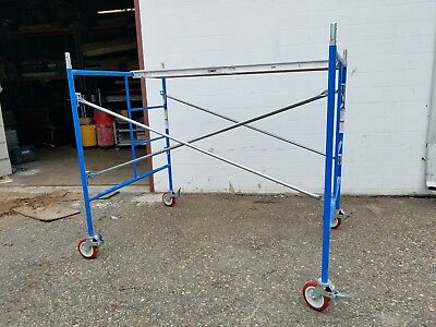 6 Set Of New Bon 5 X 5 X 7 And X 10 Scaffolding Frame Set Waluminum Planks