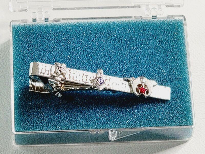 Vintage Silvertone Masonic Tie Bar/Clip 32 Degree Shriners