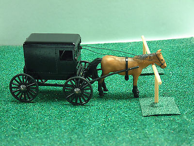 NEW TAN HORSE AND BLACK AMISH - Horse And Buggy