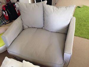 Medium size armchair grey ikea Melbourne CBD Melbourne City Preview