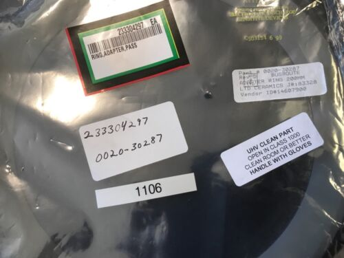 0020-30287, Amat, Adapter Ring Pumping Plate, 200mm