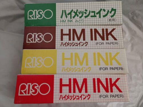 RISO Print Gocco 4 Basic Colors HiMesh HM INK for Paper Screen Print