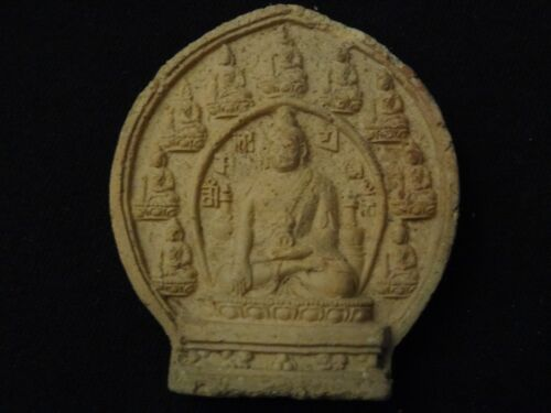 ANTIQUE  MONGOLIAN TIBETAN  BUDDHIST CLAY TSA TSA
