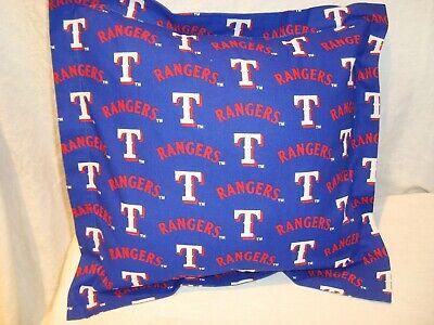 "Texas Rangers MLB 14"" Cotton Fabric Throw Pillow/Cover/Stuff"