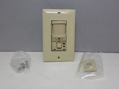 Hubbell Ws1277i H-moss Motion Detector Wall Switch 1200 Sq.ft. Sensor - Ivory