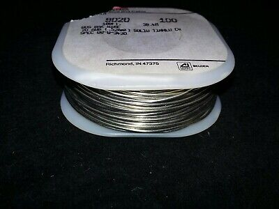 Belden 8020 20 Awg Solid Tinned Copper Bus Bar Wire  100 Ft. Spool Brand New