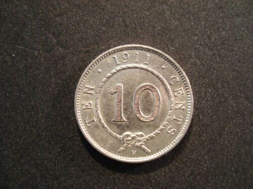 1911 H  Sarawak 10 Cents