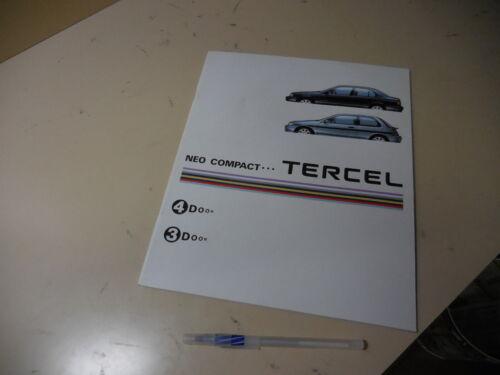 TOYOTA TERCEL Japanese Brochure 1992/08 EL43/45 40/41 5E-FHE 5E-FE 4E-FE 1N-T
