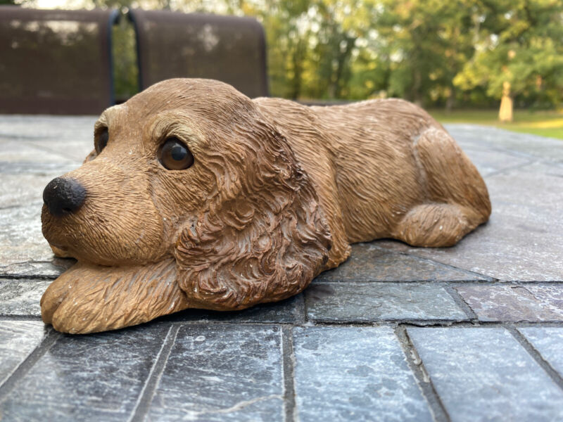 Vintage 1983 Sandicast Cocker Spanial Puppy