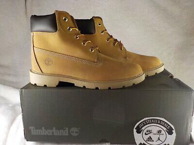 Timberland 6inch Premium Boot - TB010960 - Wheat / Black - Youth 6 = Womens 7.5