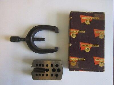 Brown Sharpe V Block Clamp 599-9749-2 Machinist Tool And Lr Block