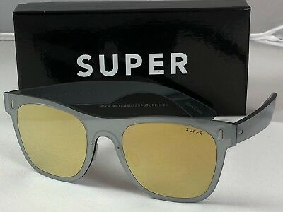 Retrosuperfuture Duo Lens Classic Gold Silver Sunglasses SUPER 86W 55mm NIB