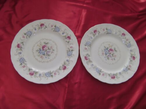2 Very Rare Vintage ROYAL STANDARD Bone China 10 1/2 Inch Dinner Plates