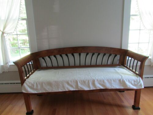 19TH CENTURY BIEDERMEIER SOFA/BENCH/COUCH CIRCA 1825-1830 ANTIQUE CUSTOMIZE