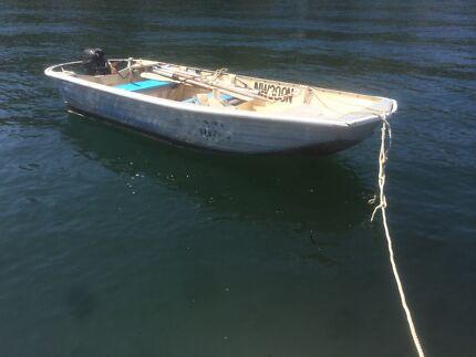 STESSL 3.8M / 12ft ALUMINIUM WORK FISHING TINNY PUNT TENDER BOAT Manly Area Preview