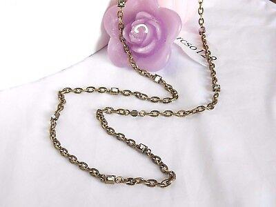 Beautiful Lia Sophia Antiqued Gold  Ingenue  Necklace  36 39   Cut Crystals  Nwt