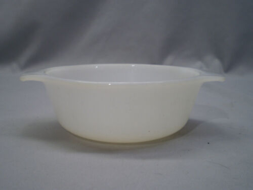 Anchor Hocking Fire King 472 White Glass 12 oz Oven Ware Baking Casserole Dish