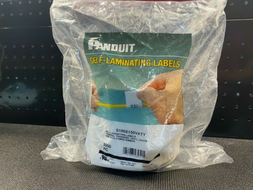 Panduit S100X150VATY Thermal Transfer Label 2x1.5, Self Laminated Roll Of 5000