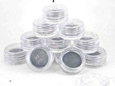 10x Grey Matte Eye Shadows Wholesale Job Lot Cosmetics Make Up Clearance Dark