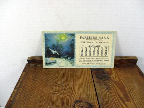 Farmers Bank Hummelstown Pa 1928 Ink Blotter