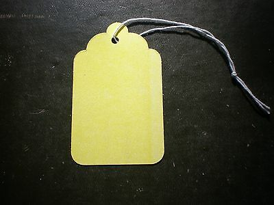 100 Size 8 Price Tags With String - Yellow - 1-1116 X 2-34