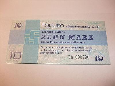 DDR Geld Geldschein Original DDR Forumscheck Banknote Zehn 10 Mark Kassenfrisch