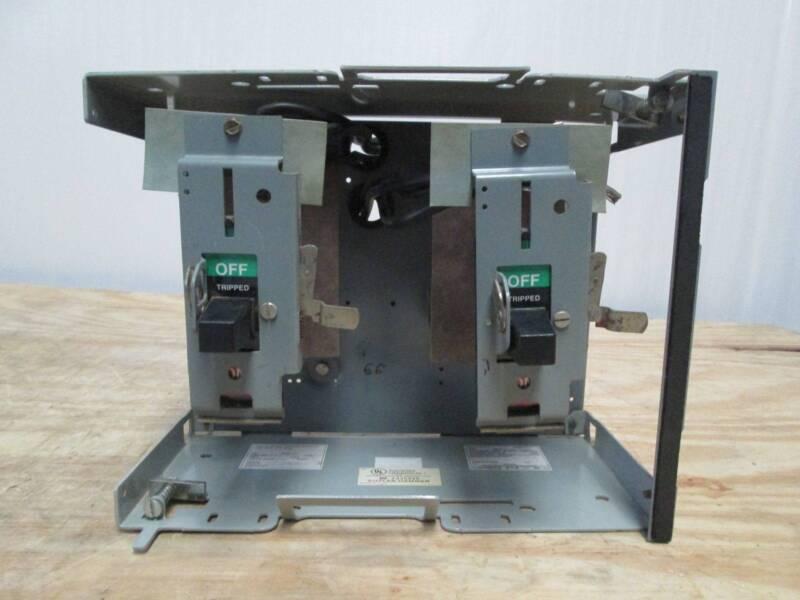 Cutler-Hammer F10 Unitrol 60 Amp Dual Breaker Feeder MCCB Eaton 60A MCC Bucket