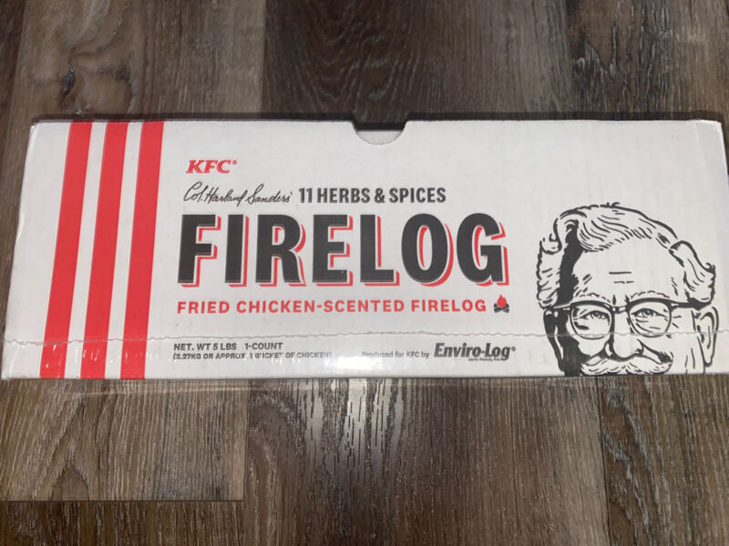 KFC Fire Log ~ Kentucky Fried Chicken 11-Herbs & Spices Scented Eviro-log