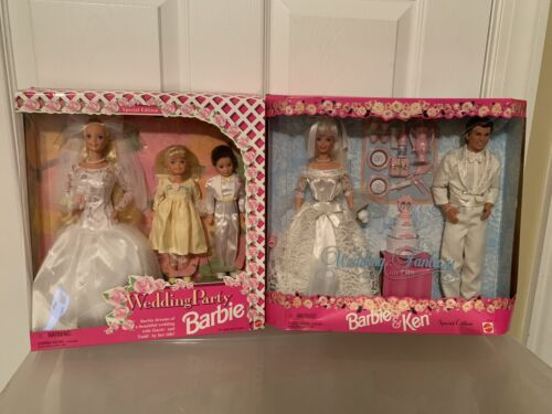 Barbie And Ken Wedding Fantasy 1996 And Wedding Party 1994 Sets - $90.00