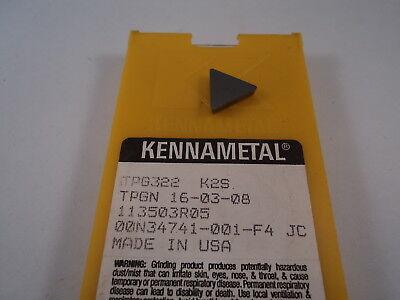 Kennametal Tpg 322 Insert Grade K2s 02344