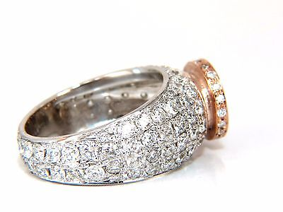 GIA Certified 3.08ct. Fancy light brown round cut diamond ring 14kt + 5