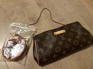 "Authentic Louis Vuitton Eva clutch monogram ""Mint condition """