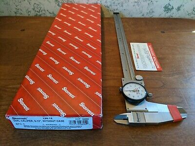 Starrett 12 Inch Dial Caliper No 120-12 W Box - American Made - Nos