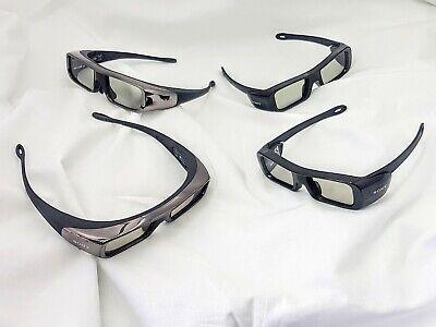 (Lot of 4) Active 3D Glasses For Sony TDG-BR100 /TDG-BR50 Bravia TV