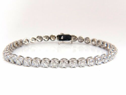 3.50ct Natural Diamonds Tennis Bracelet 14kt 7 Inch+