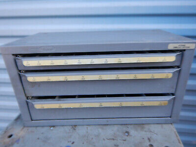 Huot Drill Bit Cabinet With Drawers Model 13050 Letter Drills