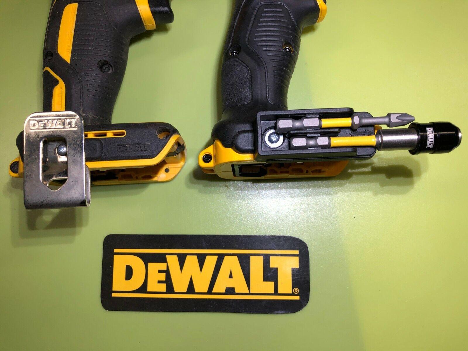 DeWalt BIT HOLDER  & BELT HOOK 20V & 12V DRILL / IMPACT