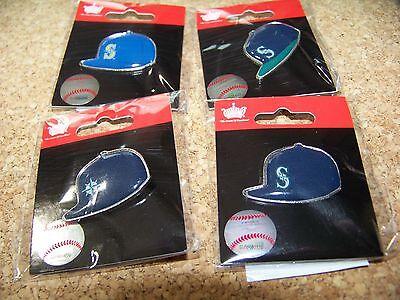 4 - Seattle Mariners logo baseball cap pins hat pin NEW for