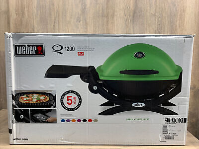 BRAND NEW Weber Q-1200 Portable Propane Gas Grill FREE SHIPPING - GREEN
